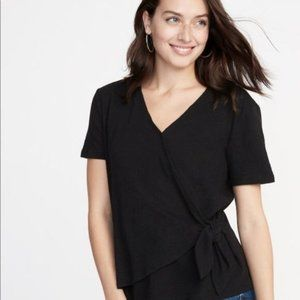 Old Navy Short Sleeve Wrap Top